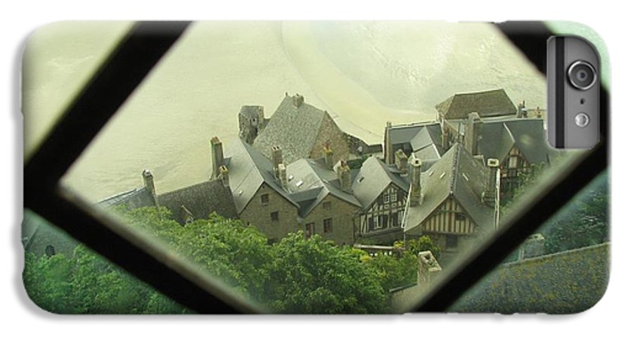 Le Mont St-michel IPhone 7 Plus Case featuring the photograph Through A Window To The Past by Mary Ellen Mueller Legault