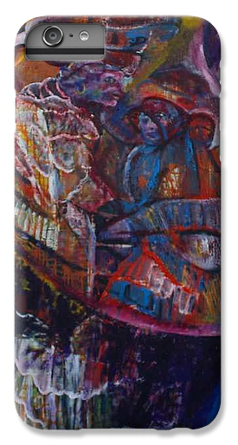African Women IPhone 7 Plus Case featuring the painting Tikor Woman by Peggy Blood