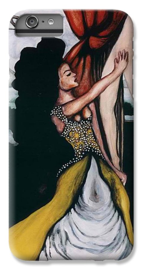 To Have And To Hold IPhone 7 Plus Case featuring the painting To Have And To Hold  Mourning The Loss Of A Lover by Ayka Yasis