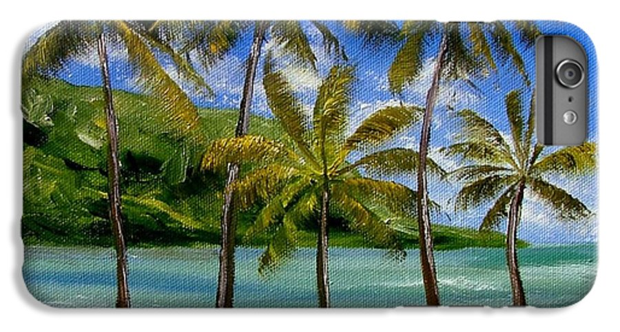 Summer IPhone 7 Plus Case featuring the painting Tropical Paradize by Inna Montano