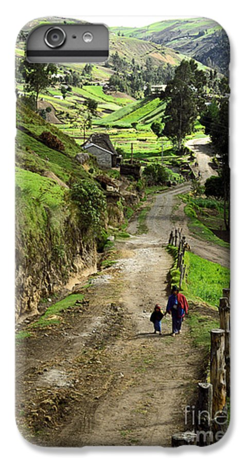 Ecuador IPhone 7 Plus Case featuring the photograph View Of Lupaxi by Kathy McClure