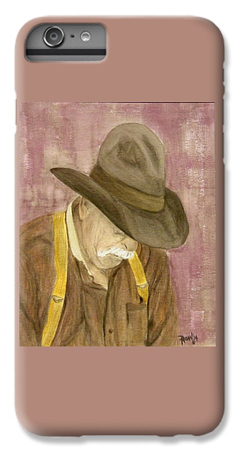 Western IPhone 7 Plus Case featuring the painting Walter by Regan J Smith