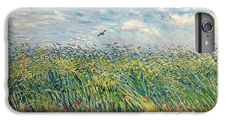 Post-impressionist; Wheat Field; Landscape; Bird; Poppies; Actually A Partridge IPhone 7 Plus Case featuring the painting Wheatfield With Lark by Vincent van Gogh