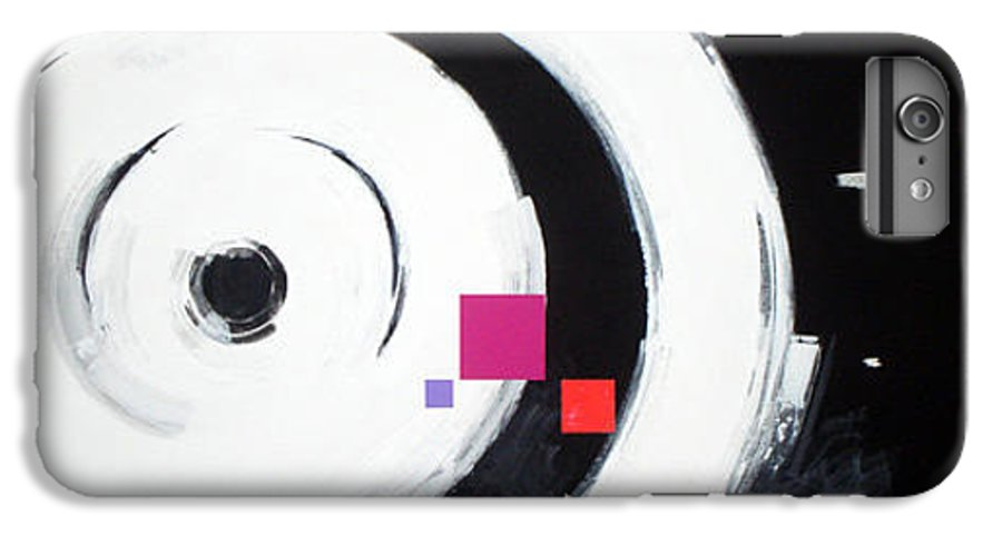 Abstract IPhone 7 Plus Case featuring the painting Wheel Of Fortune by Jean Pierre Rousselet