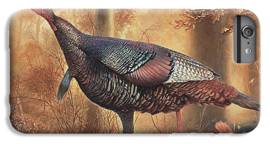 Wild Turkey IPhone 7 Plus Case featuring the painting Wild Turkey by Hans Droog
