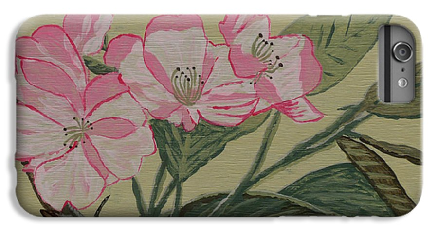 Yamazakura IPhone 7 Plus Case featuring the painting Yamazakura Or Cherry Blossom by Anthony Dunphy