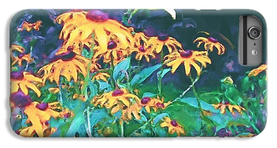 Mixed Media IPhone 7 Plus Case featuring the painting A Lily In The Field by Patricia Griffin Brett