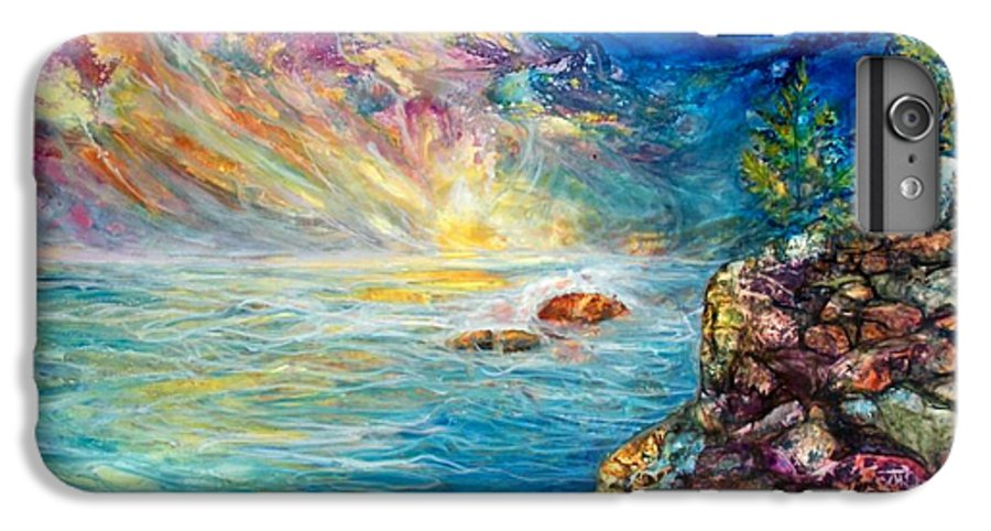 Seascape IPhone 7 Plus Case featuring the painting Ascension by Mary Sonya Conti