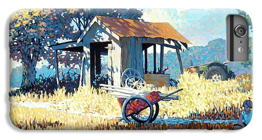 Cart IPhone 7 Plus Case featuring the painting Breaktime by Kevin Lawrence Leveque