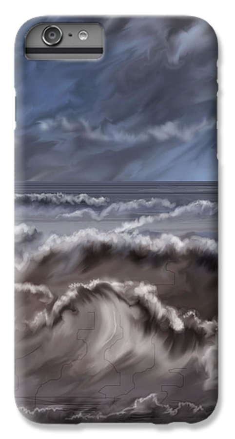 Seascape IPhone 7 Plus Case featuring the painting Caramel Seas by Anne Norskog