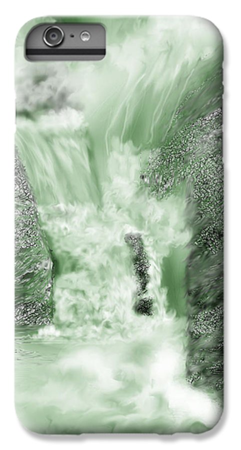 White Water IPhone 7 Plus Case featuring the painting Cherry Creek Lower Run by Anne Norskog