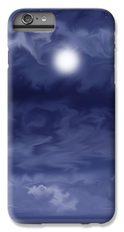 Moon IPhone 7 Plus Case featuring the painting Cobalt by Anne Norskog