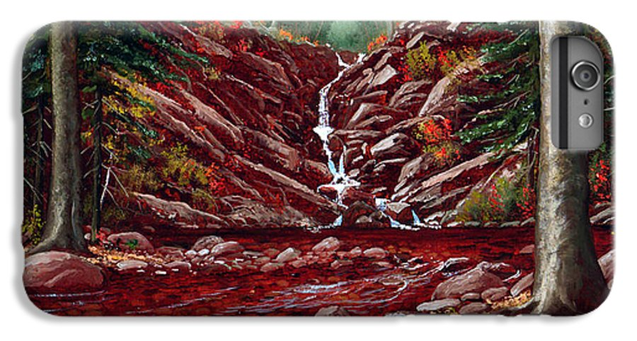 Frank Wilson IPhone 7 Plus Case featuring the painting Deepwoods Cascade by Frank Wilson