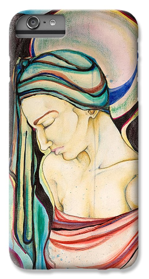 Peace IPhone 7 Plus Case featuring the painting Peace Beneath The City by Sheridan Furrer