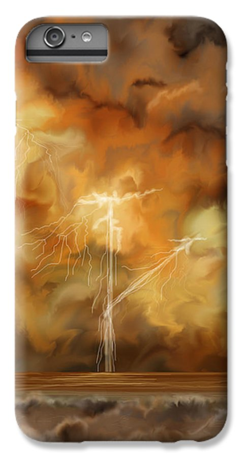 Anne Norskog IPhone 7 Plus Case featuring the painting Raw Power by Anne Norskog