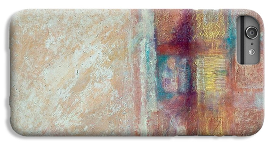 Mixed-media IPhone 7 Plus Case featuring the painting Spirit Matter Cosmos by Kerryn Madsen-Pietsch