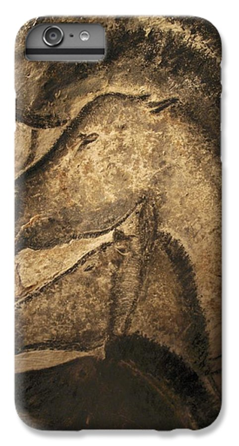 Animal IPhone 7 Plus Case featuring the photograph Stone-age Cave Paintings, Chauvet, France by Javier Truebamsf
