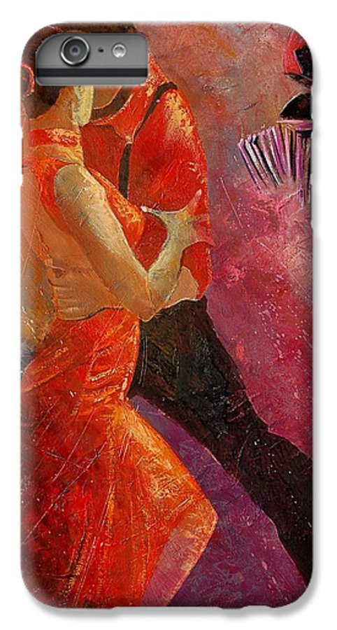 Tango IPhone 7 Plus Case featuring the painting Tango by Pol Ledent