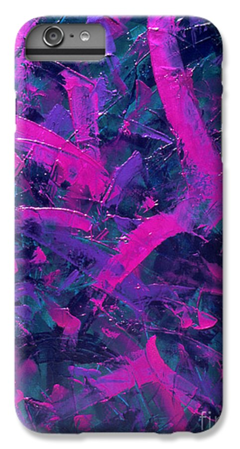 Abstract IPhone 7 Plus Case featuring the painting Untitled by Dean Triolo
