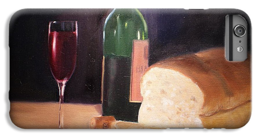 Wine IPhone 7 Plus Case featuring the painting Untitled by Toni Berry