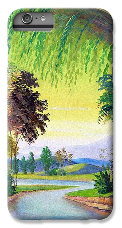 Landscape IPhone 7 Plus Case featuring the painting Verde Que Te Quero Verde by Leomariano artist BRASIL