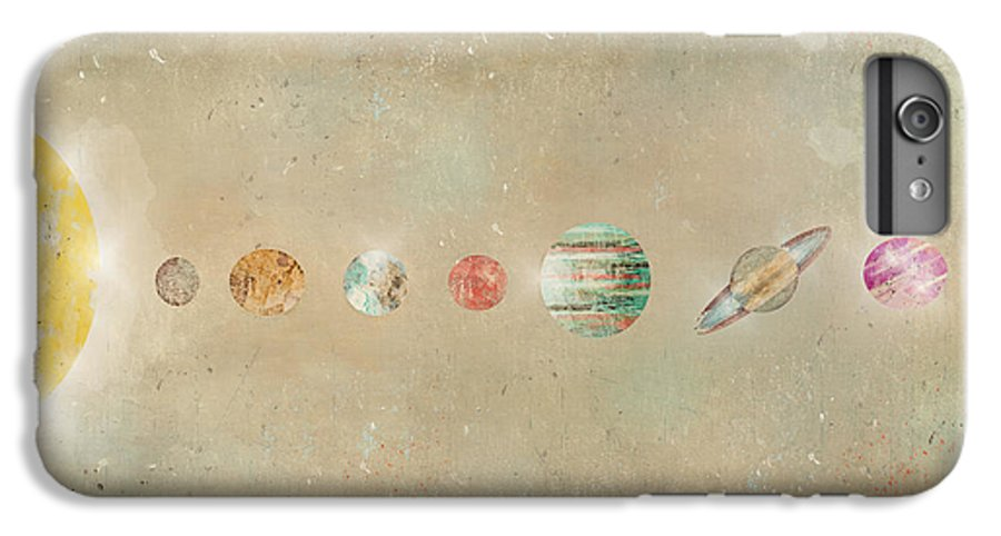 Solar System IPhone 7 Plus Case featuring the painting Solar System by Bri Buckley