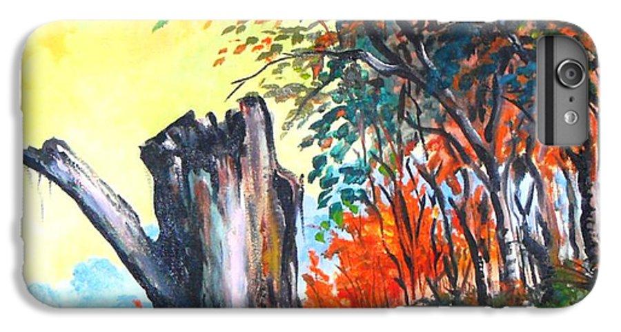 Landscape IPhone 7 Plus Case featuring the painting Verde Que Te Quero Verde by Leomariano artist BRASIL