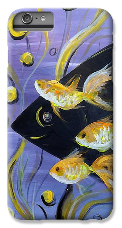 Fish IPhone 7 Plus Case featuring the painting 8 Gold Fish by Gina De Gorna