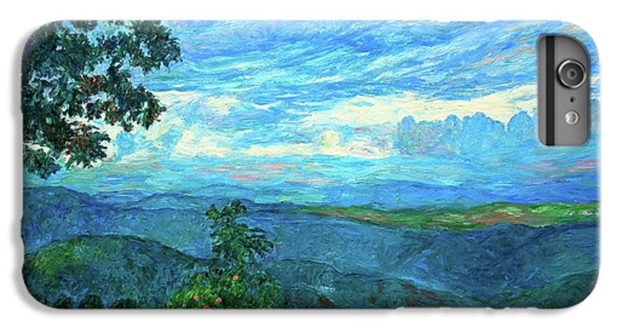 Mountains IPhone 7 Plus Case featuring the painting A Break In The Clouds by Kendall Kessler