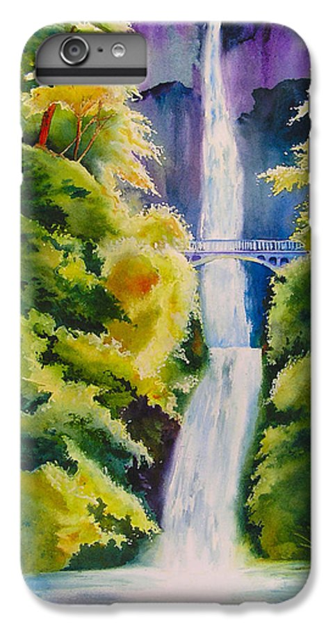 Waterfall IPhone 7 Plus Case featuring the painting A Favorite Place by Karen Stark
