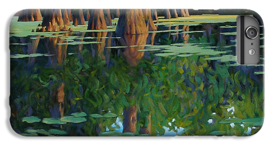 Swamp IPhone 7 Plus Case featuring the painting A Patch Of Blue by Kevin Lawrence Leveque