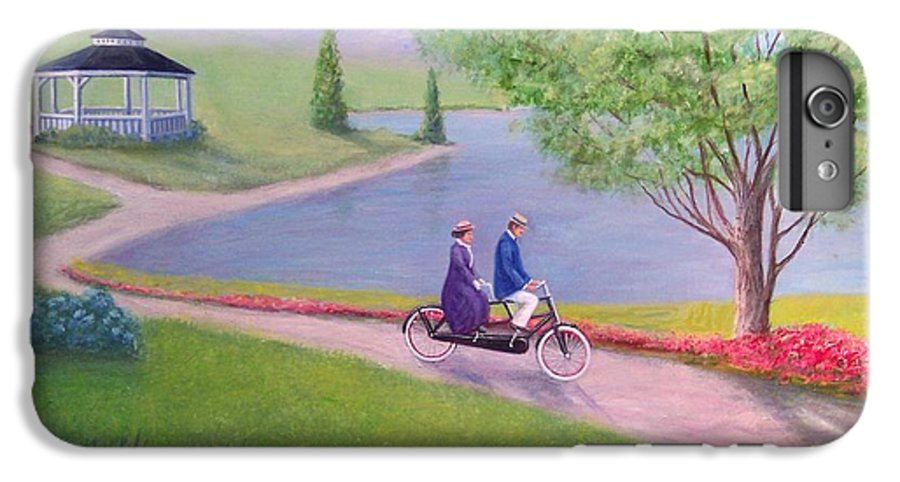 Landscape IPhone 7 Plus Case featuring the painting A Ride In The Park by William H RaVell III