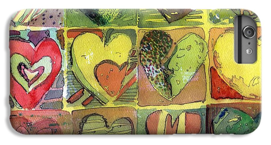 Valentine IPhone 7 Plus Case featuring the painting A Sunny Valentine by Mindy Newman