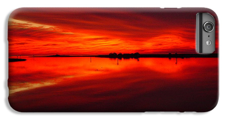 Sunset IPhone 7 Plus Case featuring the photograph A Sunset Kiss -debbie-may by Debbie May