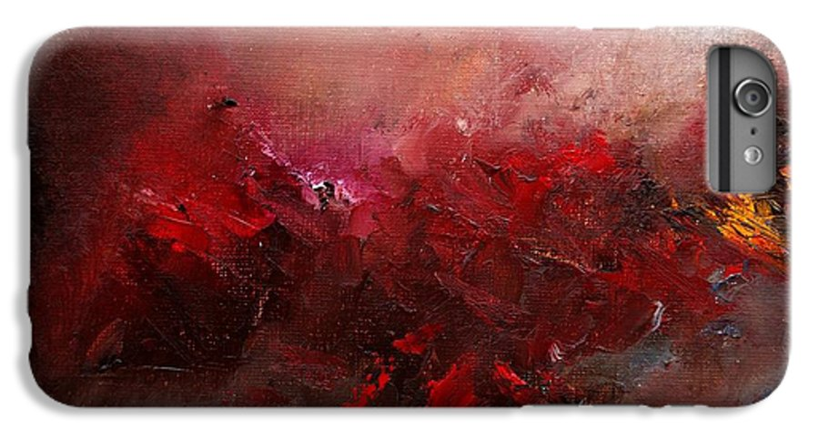 Abstract IPhone 7 Plus Case featuring the painting Abstract 056 by Pol Ledent