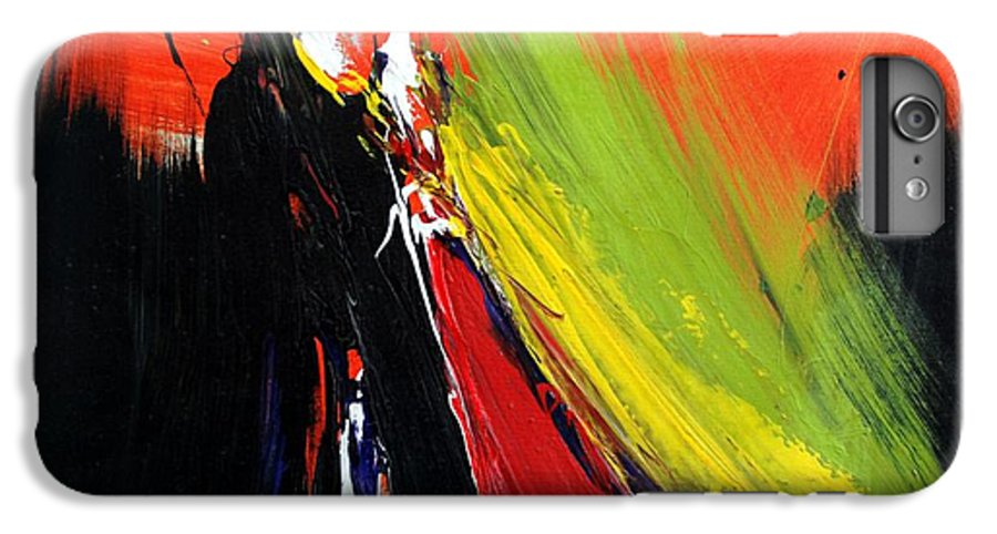 Abstract IPhone 7 Plus Case featuring the painting Abstract 2002 by Mario Zampedroni