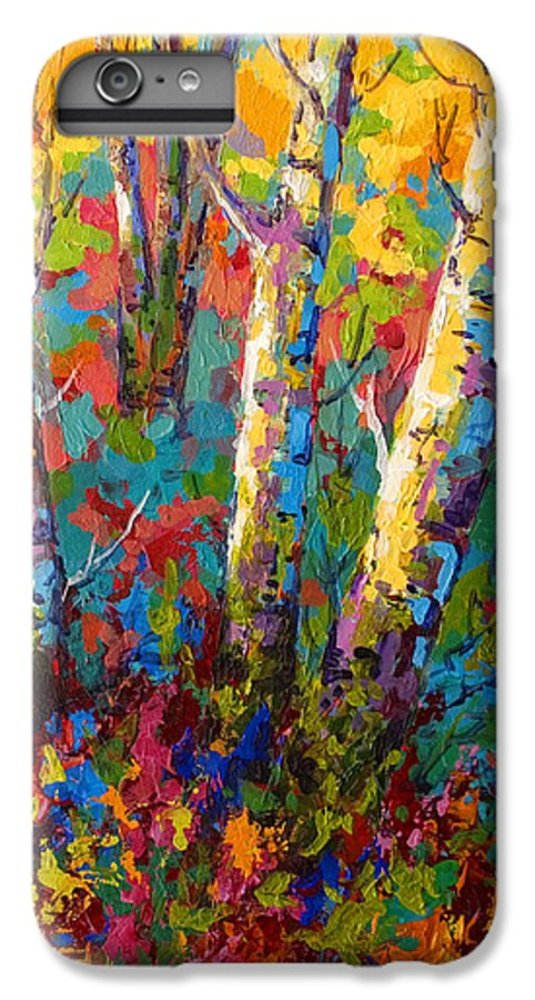 Trees IPhone 7 Plus Case featuring the painting Abstract Autumn II by Marion Rose
