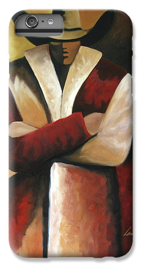 IPhone 7 Plus Case featuring the painting Abstract Cowboy by Lance Headlee