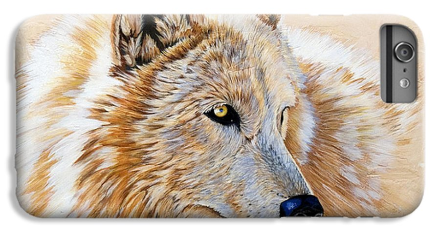 Acrylic IPhone 7 Plus Case featuring the painting Adobe White by Sandi Baker