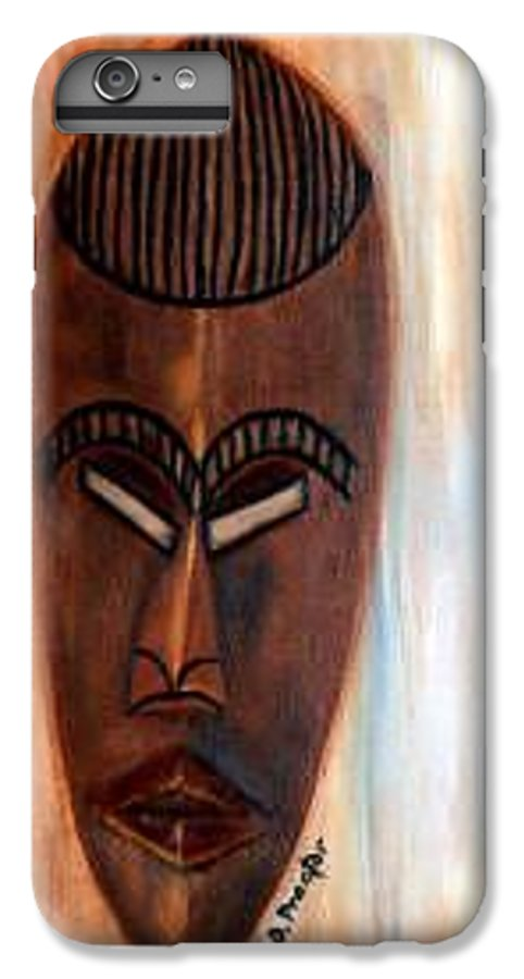 African IPhone 7 Plus Case featuring the painting African Warrior by Donna Proctor