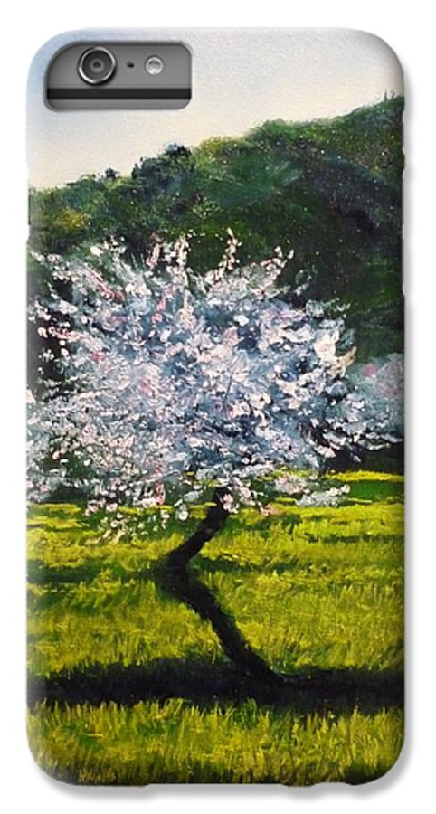 Almond Tree IPhone 7 Plus Case featuring the painting Almond Tree In Blossom by Lizzy Forrester