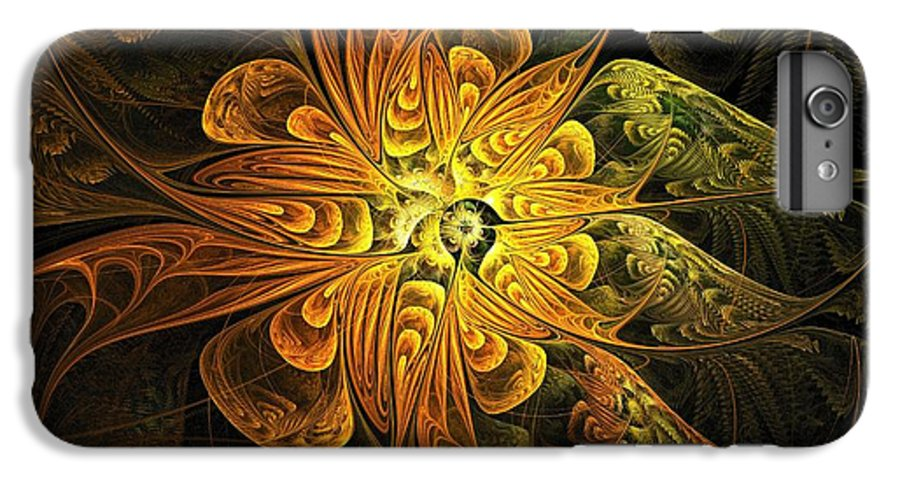 Digital Art IPhone 7 Plus Case featuring the digital art Amber Light by Amanda Moore