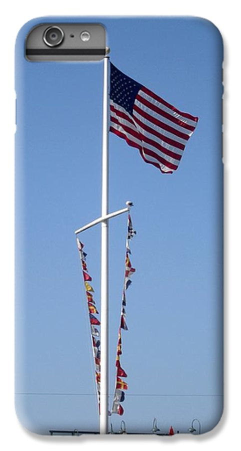American Flag IPhone 7 Plus Case featuring the photograph American Flag by Shelley Jones