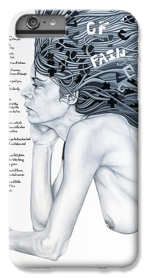 Poetry IPhone 7 Plus Case featuring the painting Anatomy Of Pain by Judy Henninger
