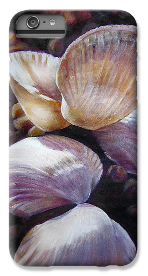 Painting IPhone 7 Plus Case featuring the painting Ane's Shells by Fiona Jack