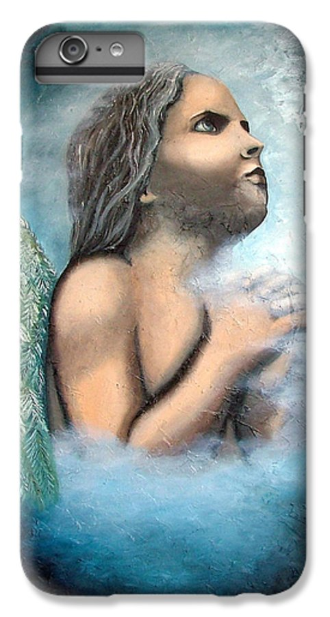 Angel IPhone 7 Plus Case featuring the painting Angel Of Faith by Elizabeth Lisy Figueroa