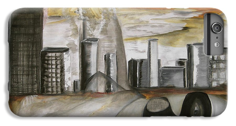 Apocalypse City End Futurism Inch Nails Nin Nine Oil Painting Times Year Zero IPhone 7 Plus Case featuring the painting Another Version Of The Truth by Darkest Artist