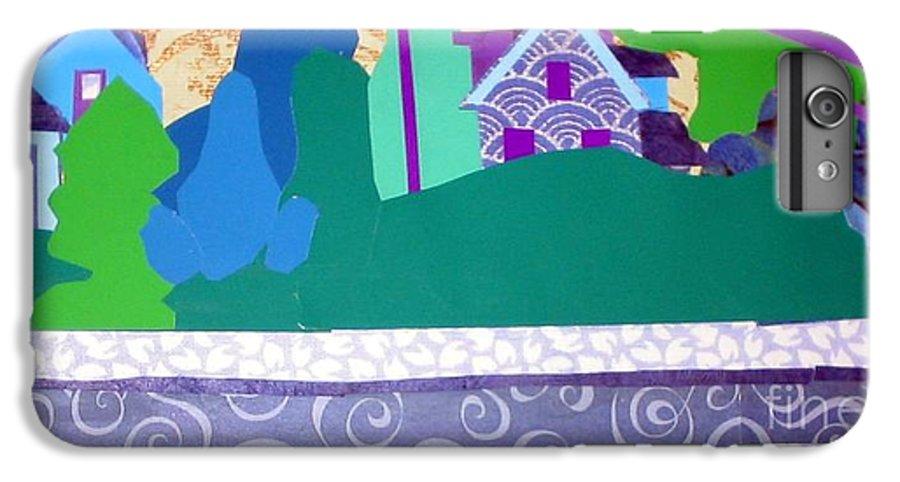 Landscape IPhone 7 Plus Case featuring the mixed media Art Colony by Debra Bretton Robinson