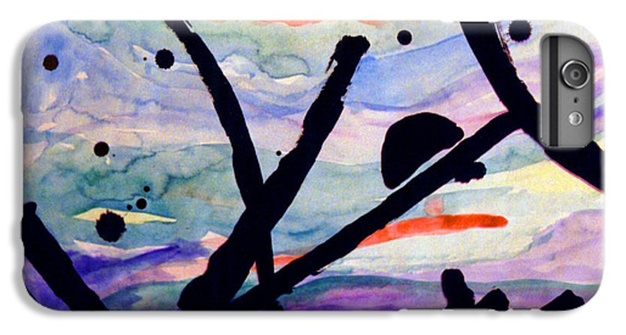 Abstract IPhone 7 Plus Case featuring the painting Asian Impression by Steve Karol