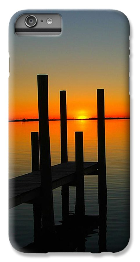 Sunset IPhone 7 Plus Case featuring the photograph At The Pier by Judy Waller